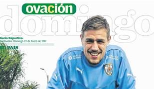 Coates já faz manchetes no Uruguai