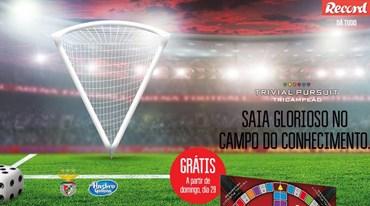 Record oferece o Trivial do Benfica Tricampeão. Saiba tudo aqui!