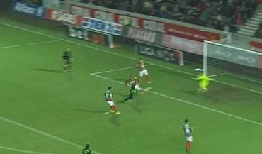 Gelson fez desta maneira o empate para o Sporting