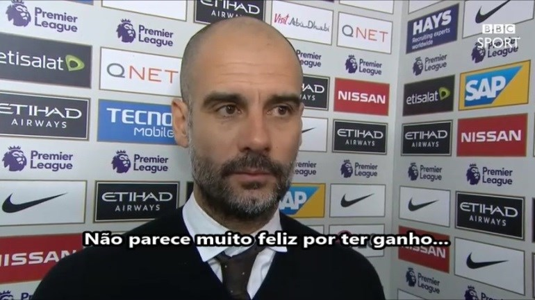 Guardiola amuado como nunca: uma entrevista surreal