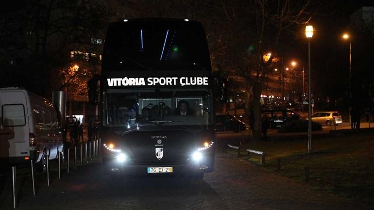 Assim foi a chegada dos autocarros a Guimarães