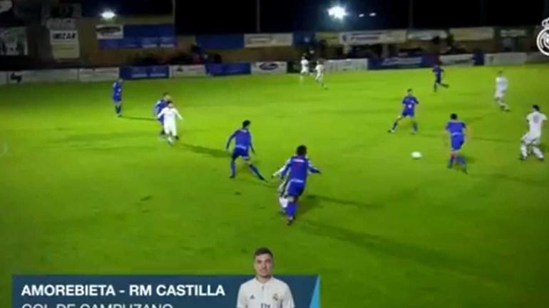 Filho de Zidane continua a mostrar serviço no Castilla