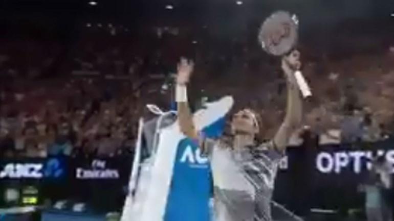 Assim celebrou Federer o seu 18.º Grand Slam