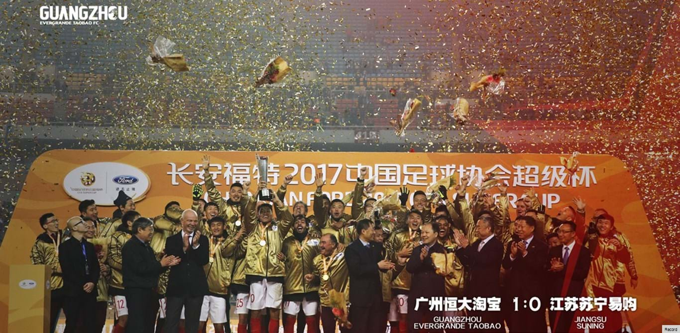 China: Equipa de Scolari festeja novo triunfo na Supertaça