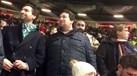 Pedro Madeira Rodrigues em Old Trafford... com o cachecol do Sporting