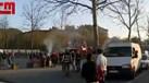 Confrontos entre adeptos do Benfica e Sp. Braga junto ao estádio