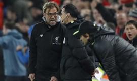 Klopp defende árbitros... em ataque indireto a Mourinho