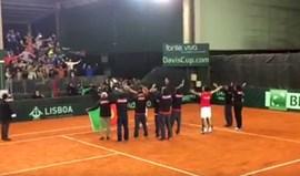 Taça Davis: Seleção Nacional festejou apuramento... à islandesa!
