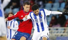 Real Sociedad bate Osasuna e reforça 5.º lugar