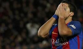 Luis Suárez é suspenso por dois jogos e falha final da Taça do Rei