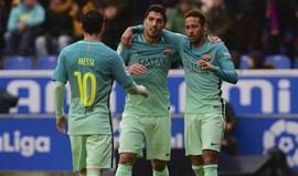 Barcelona arrasa Alavés com goleada por 6-0
