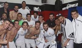 Sergio Ramos fez o jogo 500 com a camisola do Real e no balneário festejaram assim