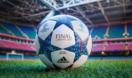 É com esta bola que Benfica e FC Porto vão jogar na Champions