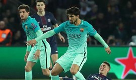 Imprensa espanhola diz que o plantel do Barça não entende a titularidade de André Gomes