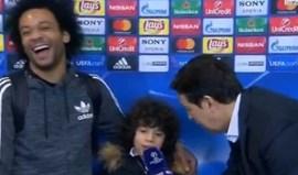 Marcelo estava a ser entrevistado... mas a estrela foi o seu filho