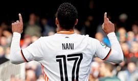 Nani abre caminho à vitória do Valencia