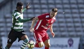 Gil Vicente-Sporting B, 2-2: Leões empatam na estreia de Luís Martins