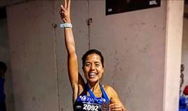 Isabel Silva radiante após concluir Maratona de Sevilha