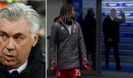 Federação pede explicações a Ancelotti por gesto polémico