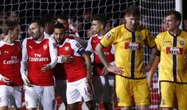 Arsenal não falha e afasta Sutton United da Taça