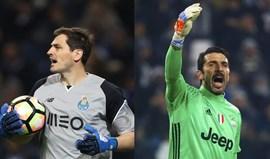 Ei futebol, respeito pelos gigantes Casillas e Buffon