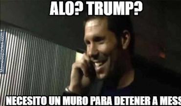 Até Trump foi metido ao barulho nos 'memes' do At. Madrid-Barcelona