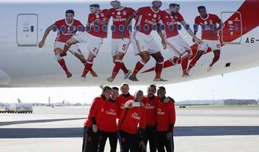 Quinteto do Benfica não quis perder este momento