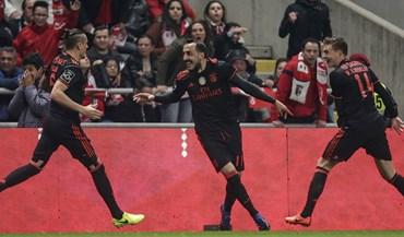 Crónica do Sp. Braga-Benfica, 0-1: Viajar até Braga sem perder 'estacionamento'