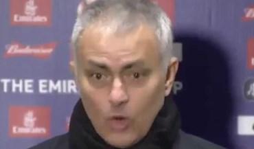 Não, Mourinho não ficou assustado com resultado do sorteio da Taça de Inglaterra