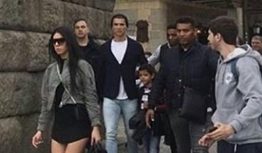 Ronaldo e Georgina não passaram despercebidos em Segóvia
