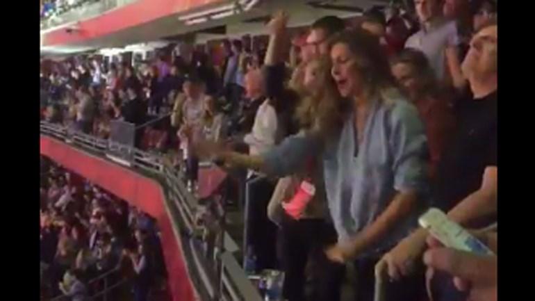 Gisele Bündchen 'louca' com a vitória dos New England Patriots