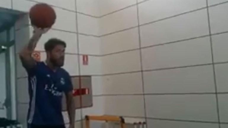 Sergio Ramos preparado para o NBA All Star