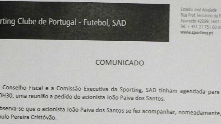 Esta é a explicação de Bruno de Carvalho para não receber Paulo Pereira Cristóvão