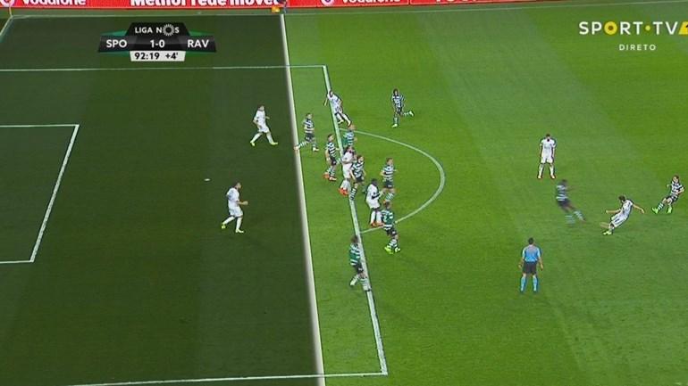 Roderick ainda fez o golo do empate, mas estava em fora-de-jogo