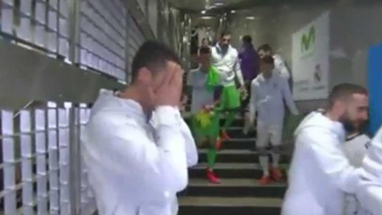 Ronaldo 'apanhado' a fazer comentário ao guarda-redes do Espanyol