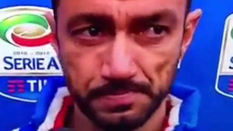 Quagliarella em lágrimas após recordar inferno