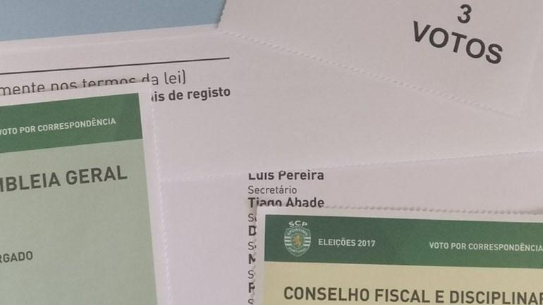 São assim os boletins de voto para as eleições do Sporting