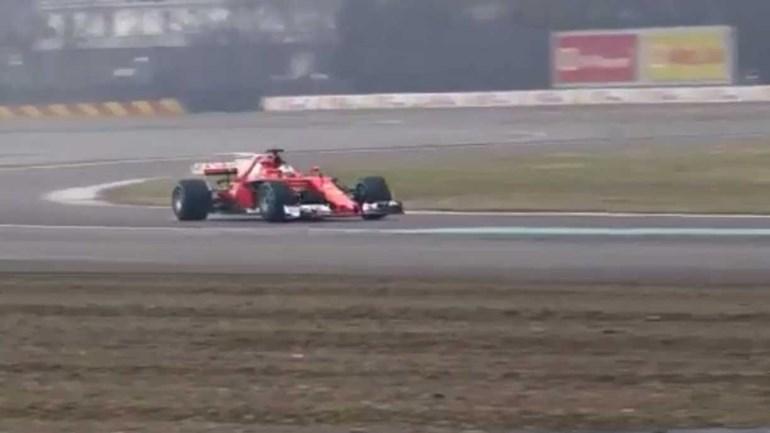 Ferrari SF70-H rodou... e o ronco do Cavallino Rampante encheu os céus de Fiorano