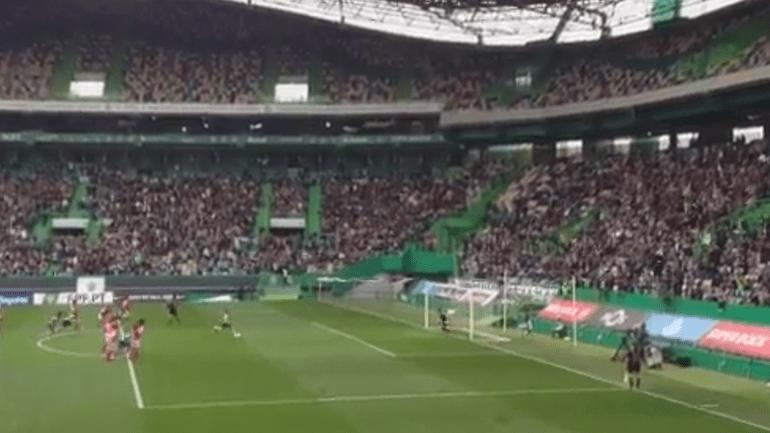 Foi com este golo que Solange colocou o Sporting na liderança do campeonato