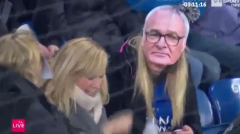 Claudio Ranieri esteve nas bancadas do estádio do Leicester