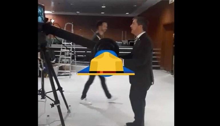 Depois do debate... Bruno de Carvalho andou a 'brincar' com as câmaras