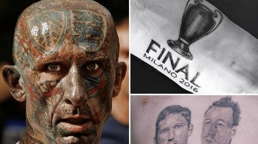 Erros que não se apagam: são estas as piores tatuagens do mundo do futebol