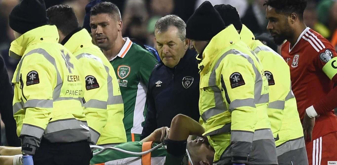 Irlandeses e galeses unidos no lamento pela lesão de Seamus Coleman