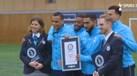 Jogadores do Tottenham entram para o Guinness