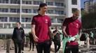 Seleção Nacional descontraiu num passeio... pelo hotel