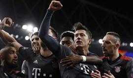 Bayern Munique volta a golear Arsenal... agora em Londres