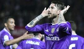 Insultos a Sergio Ramos valem fecho parcial do estádio do Sevilha