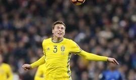 Lindelöf lesiona-se ao serviço da seleção sueca