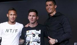 Neymar: «Messi e Ronaldo são estrelas de um nível gigantesco»