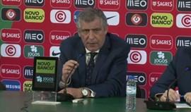 Fernando Santos deixa críticas à 2.ª parte: «Equipa jogou uma pelada»